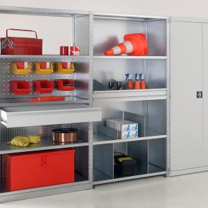 Advancestor steel shelving with doors